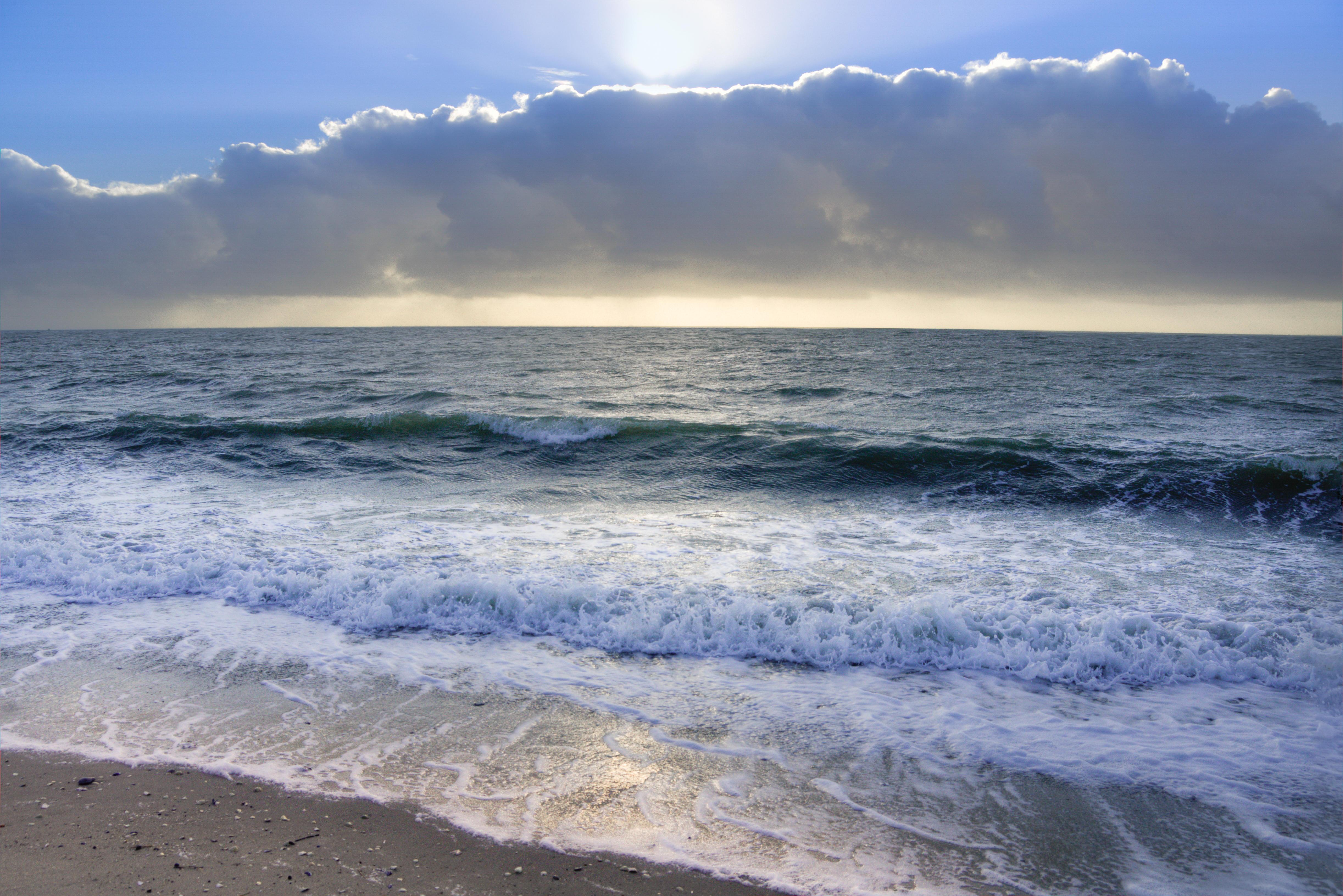 Обои море, волны, берег, пляж