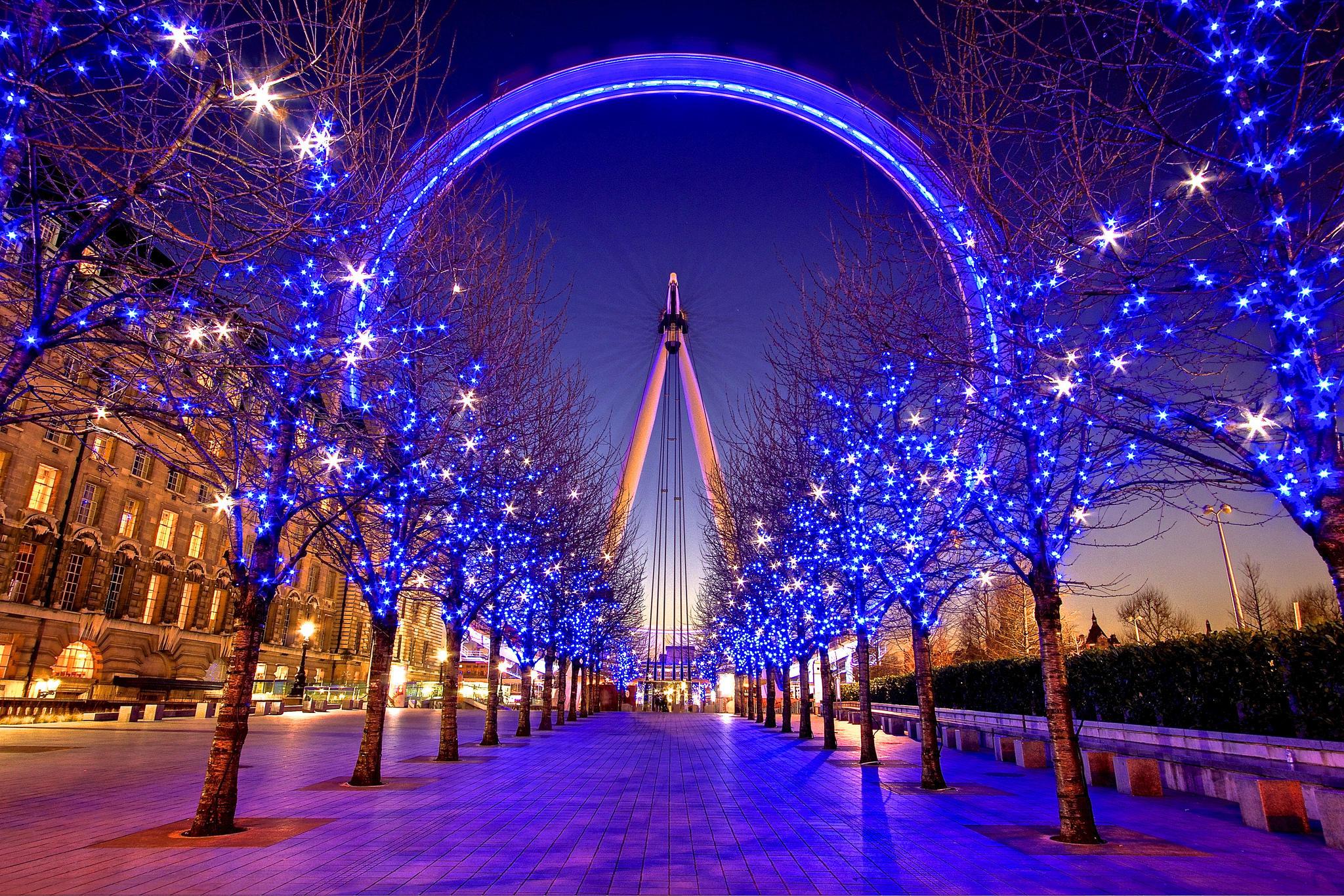 обои Великобритания, London, South Bank, Зима картинки фото