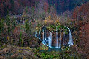 Заставки Plitvice Lakes National Park,Croatia,осень,водопады,пейзаж