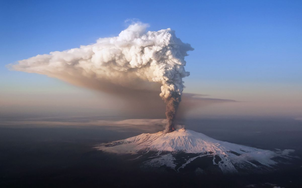 Free photo eruption, volcano, ash - to desktop