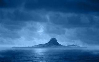 Фото бесплатно море, остров, гора
