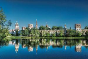 Бесплатные фото Новодевичий монастырь,православный женский монастырь,Москва,Россия,осень