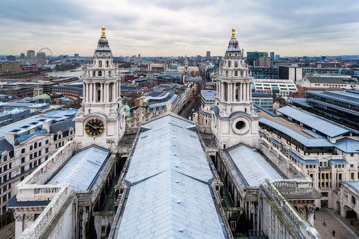 Фото бесплатно Вид на город Лондон из Санкт-Паулс собора, Собор Святого Павла, Лондон