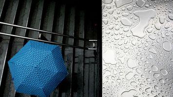 Фото бесплатно лестница, ступеньки, подземный переход, зонтик, крыша, капли, дождь