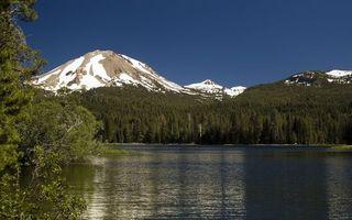 Фото бесплатно вершины, лес, снег