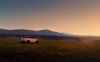 Фото бесплатно вечер, рендж ровер, поле