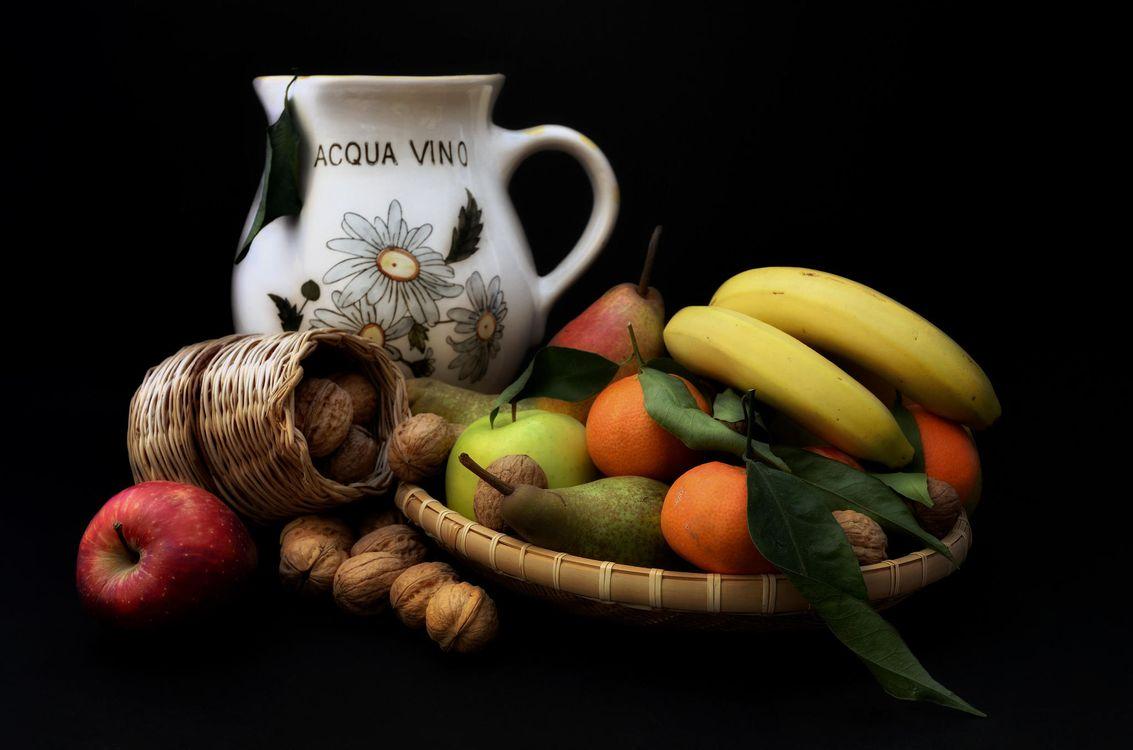 Фото бесплатно натюрморт, фрукты, бананы - на рабочий стол