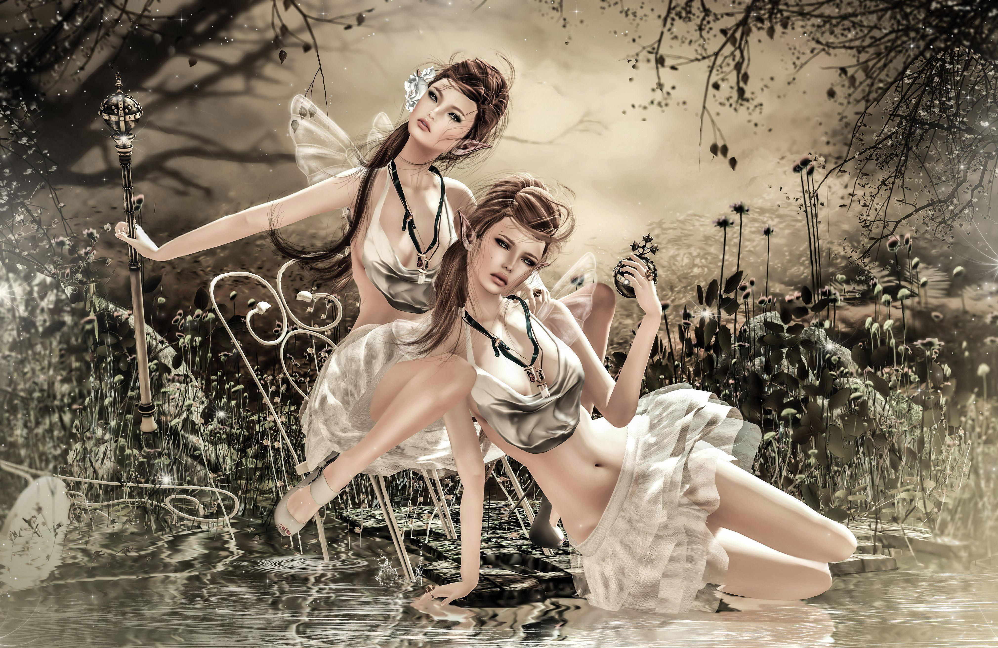 обои фантастическая девушка, девушки, фэнтези, креатив картинки фото