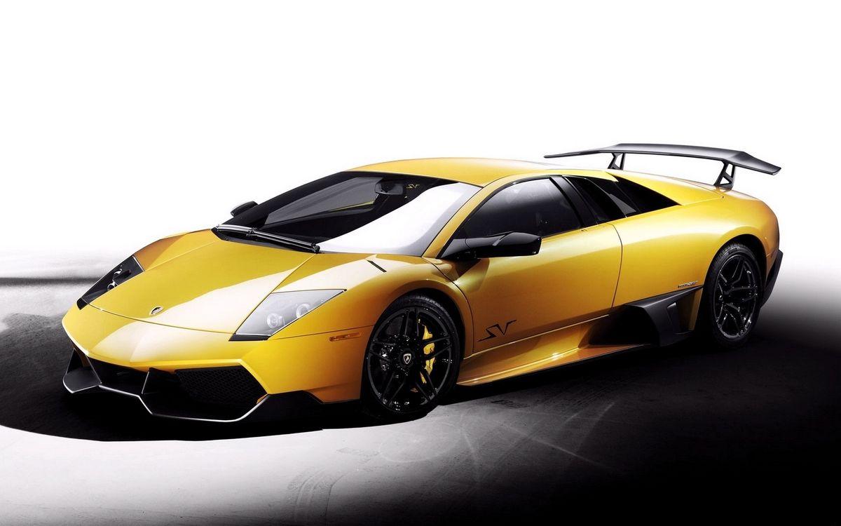 Фото бесплатно ламборджини, спорткар, желтый, фары, спойлер, диски, машины