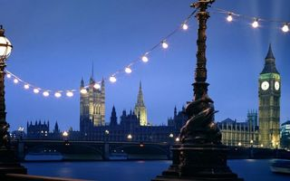 Бесплатные фото вечер, Лондон, Биг-Бен, Вестминстерский дворец, река, Темза, мост