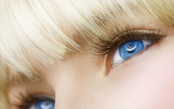 Фото бесплатно блондинка, глаза, голубые, взгляд