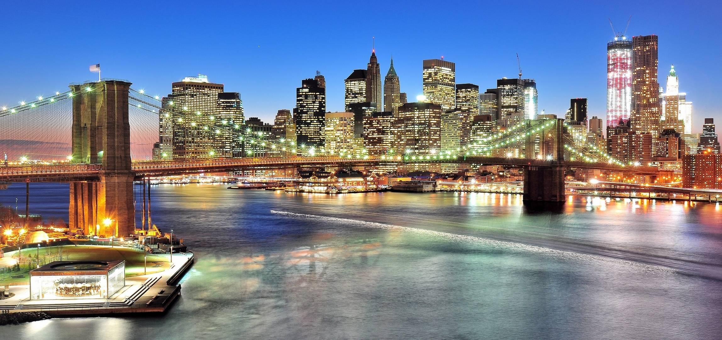 Бруклинский Мост, США, панорама