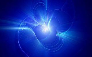 Бесплатные фото заставка,синяя,полосы,линии,свечение