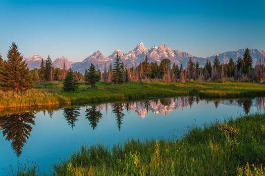 Фото бесплатно Гранд-Титон Национальный парк, штат Вайоминг, река