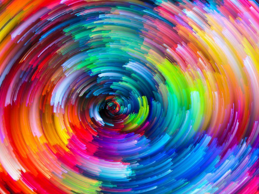 Водоворот красками · бесплатная заставка