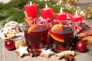 Фото бесплатно Рождество, чай с лимоном, Новый год