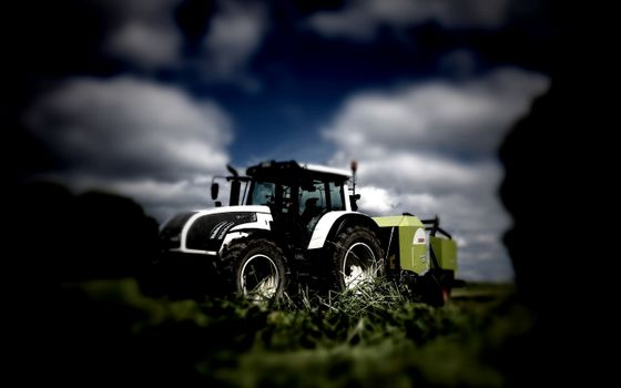 Photo free agricultural machinery, tractor, cabin
