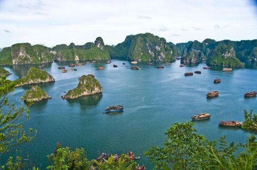 Заставки Halong Bay, Vietnam, море