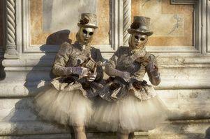 Фото бесплатно италия, наряды, карнавал в венеции