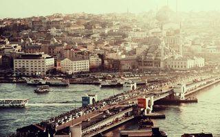 Фото бесплатно река, суда, мост