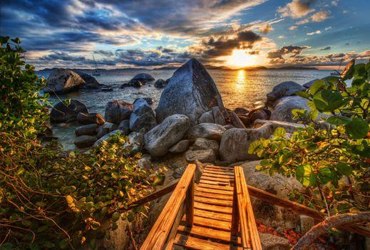 Фото бесплатно Верджин-Горда, Виргинские острова, Остров Верджин-Горда имеет вулканическое происхождение