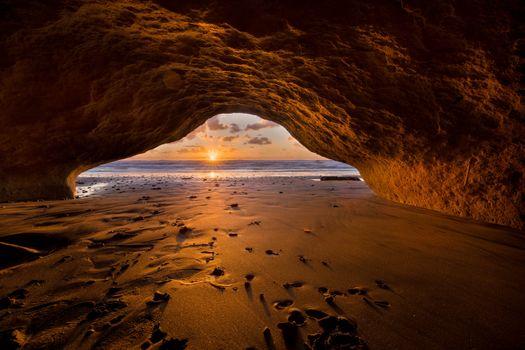 Фото бесплатно Сан Диего, solana beach, морская пещера, закат, пейзаж