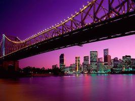 Бесплатные фото вечер,море,мост,конструкция,подсветка,берег,дома