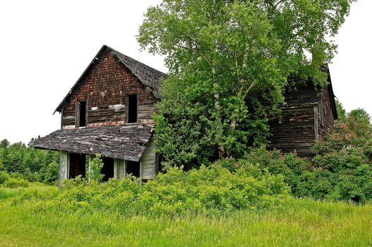Фото бесплатно лето, поле, дом