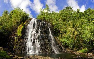 Бесплатные фото обрыв,гора,растительность,камни,водопад,небо,природа