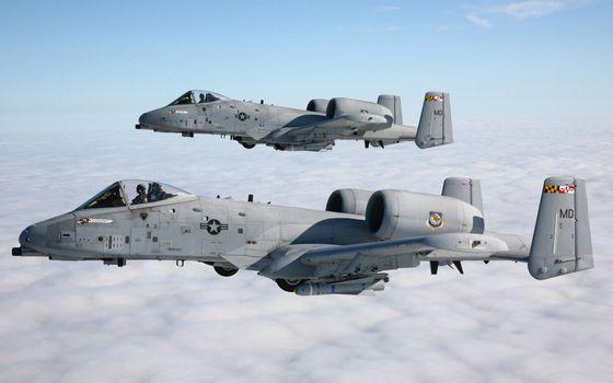 Photo free American attack aircraft, cabins, pilots