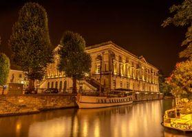 Фото бесплатно ночь, Гронинген, огни
