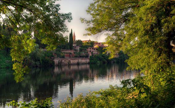 Фото бесплатно Идиллические берега реки Тарн, Альби, Франция