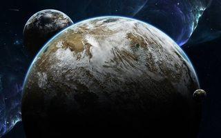 Бесплатные фото неизвестные миры,планеты,спутники,облака,жизнь,вода,кислород
