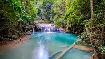 Фото бесплатно Erawan, красивый водопад, Национальный парк Канчанабури