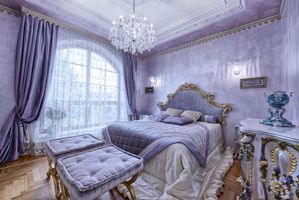 Photo free chandelier, bed, window