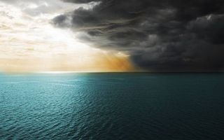 Бесплатные фото море,горизонт,небо,тучи,облака,лучи солнца