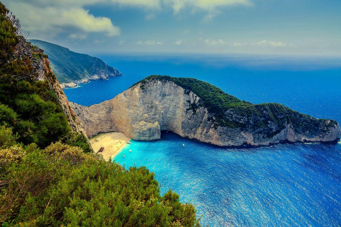 Фото бесплатно Zakynthos, Greece, Закинф, Греция, море, скалы, берег, пейзаж, пейзажи
