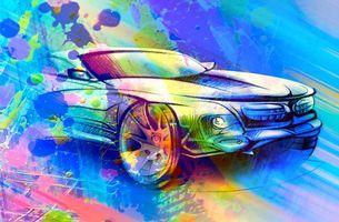 Заставки автомобиль, машина, синий