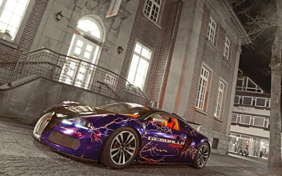 Photo free bugatti veyron, sports car, aerography
