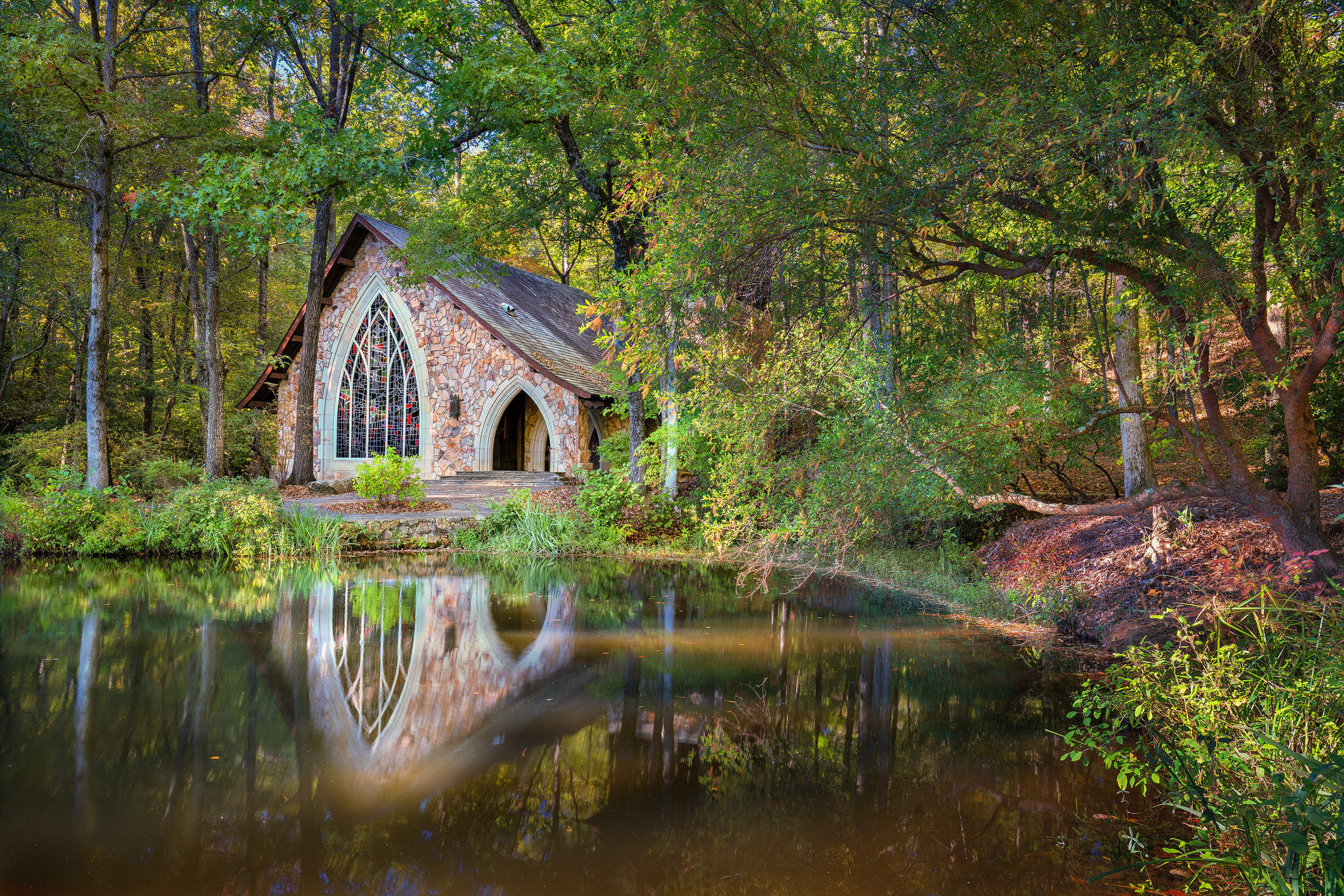 обои Часовня, Callaway Gardens, Pine Mountain, Джорджия картинки фото