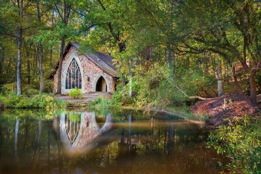 Фото бесплатно Часовня, Callaway Gardens, Pine Mountain