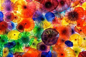 Фото бесплатно Стеклянные цветы на потолок в отеле Белладжио, Лас-Вегас, фьори ди Комо
