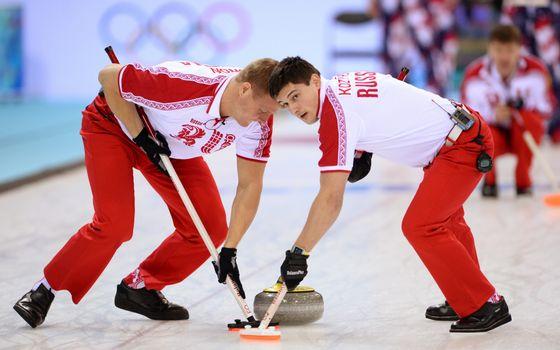 Photo free Curling, athletes, brushes