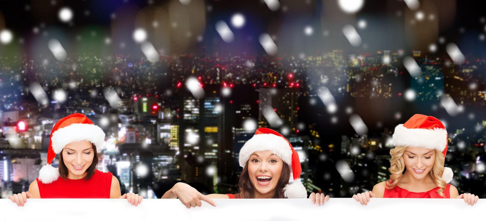 Фото бесплатно Новогодняя девушка, настроение, макияж - на рабочий стол