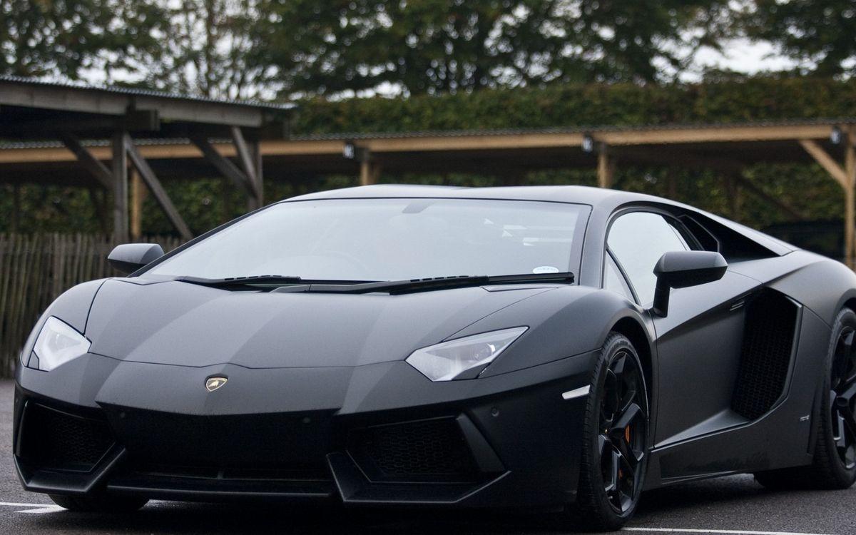 Фото бесплатно ламборджини, спорткар, черный, матовый, фары, воздухозаборники, диски, машины