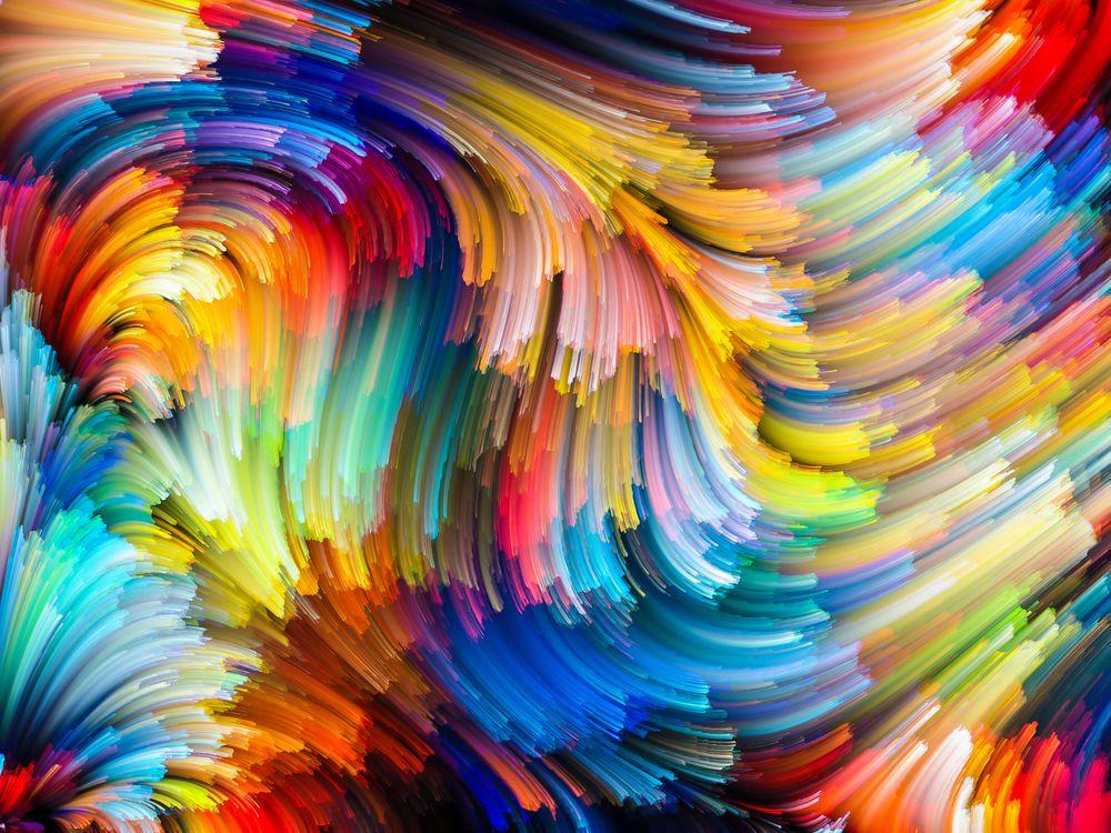 Красочные линии красками · бесплатное фото