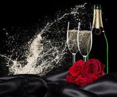 Фото бесплатно Бокалы, день святого валентина, валентинки