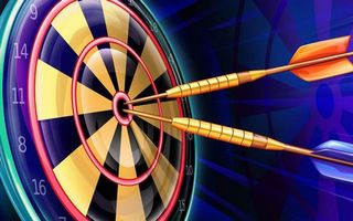 Photo free darts, target, numbers