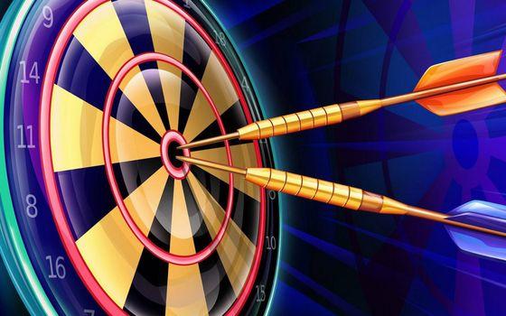 Photo free darts, target, numbers