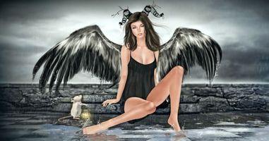 Бесплатные фото фантастическая девушка,ангел,фантастика,art